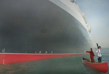 Big ship on port side, Theo !